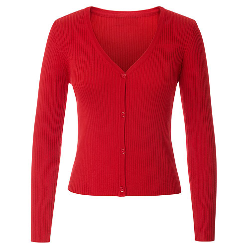 Red groove knitted cardigan S - 2XL